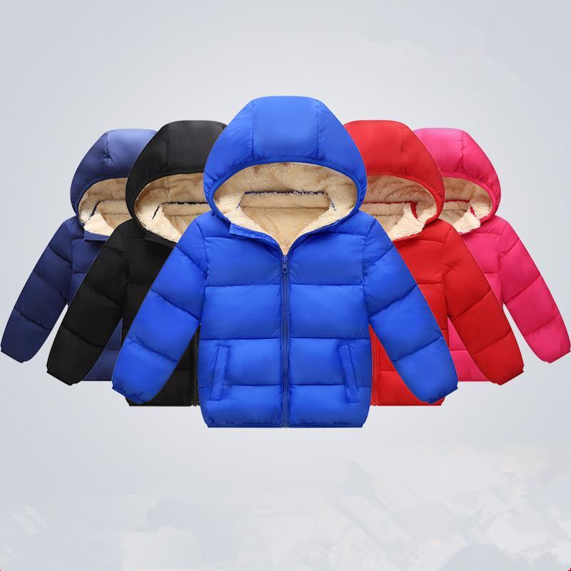 CHCDMP Winter Plus Velvet Giacche in cashmere Cappotti Giacca per bambini Ragazzi Capispalla Enfant Vestiti per bambini Ragazze Giù Abbigliamento in