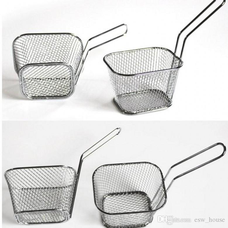 Neue Klassische Frying Basket Kitchen Tools Galvanisieren Edelstahl Mini Frying Basket Mesh Korb Sieb Net