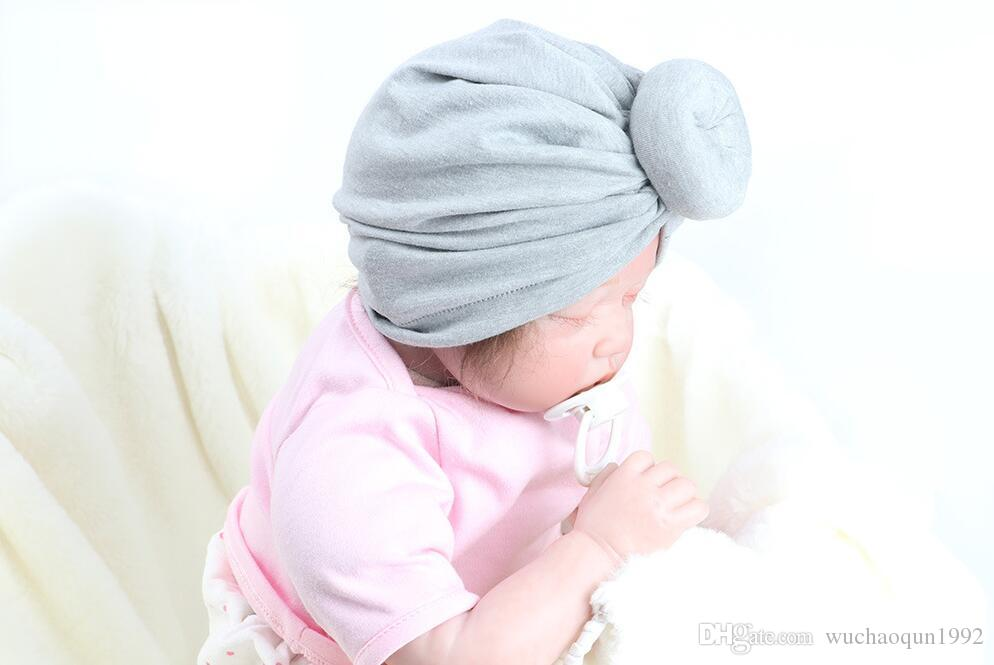 Nishine Newborn Baby Toddler Kids Rose Bowknot Soft Cotton Blend Hat Caps Clothes Accessories Christmas Gift