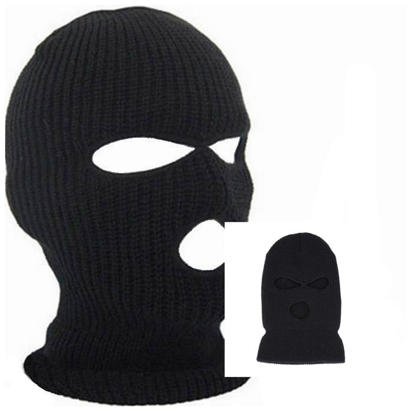 3e262fc9416 2019 3 Hole Face Hat Warm Winter Cap Mask Ski Balaclava Hood Army Brand New  Tactical From Ekuanfeng
