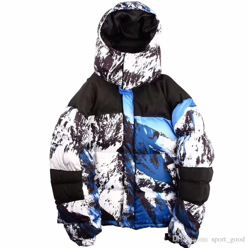 Hot Sale Outdoor sports snow mountain hooded down jacket camouflage couple models plus size plus velvet down jacket