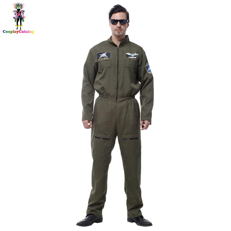 c503d40e1cdf 2019 Mens Pilot Aviator Top Gun Paratrooper Flight Suit Halloween Policeman  Special Forces Costumes Easter Carnival Party Jumpsuit Sexy From  Xiamen2013