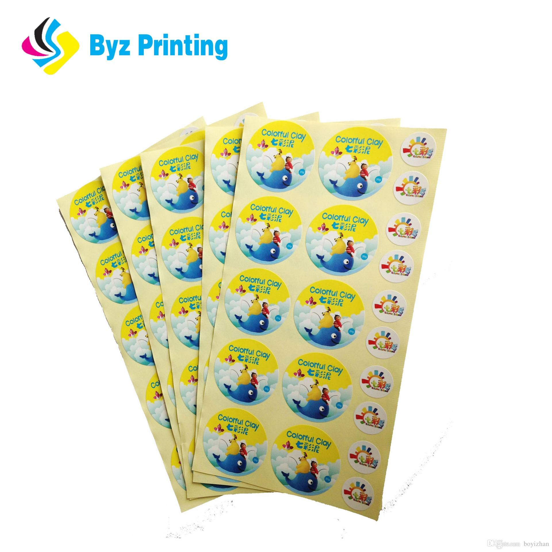2019 2019 custom self adhesive label sticker printingfood bottle packaging sticker labelroll product private logo stickers printed from boyizhan