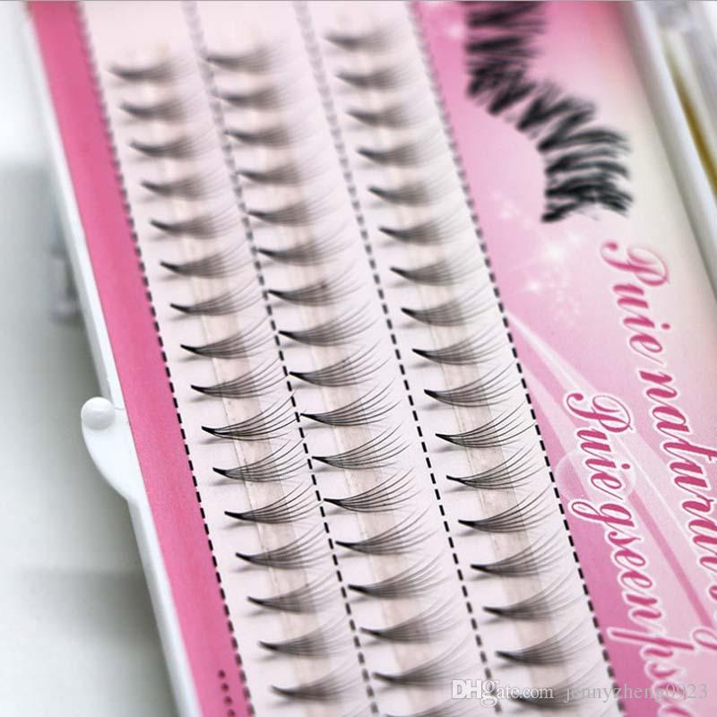 4 Cases Shortmediumlong Individual Flare False Eyelashes Grafting