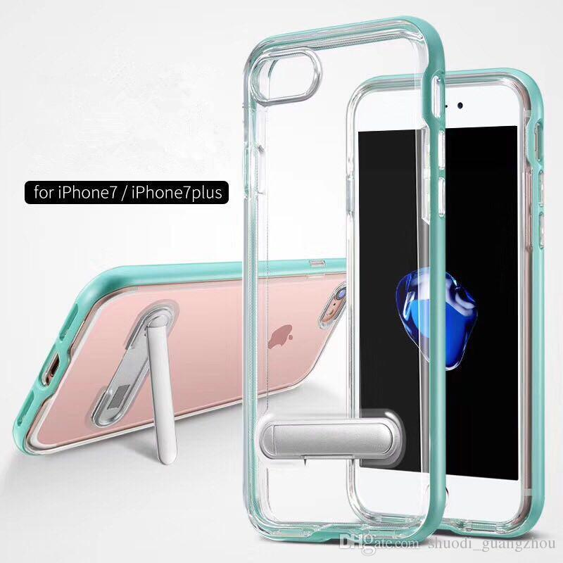 New Arrival Clear Crystal TPU Metal Hybrid Case For Samsung A3 A5 A7 2017 SGP Bumper Anti-Shock Kickstand Back Cover Case