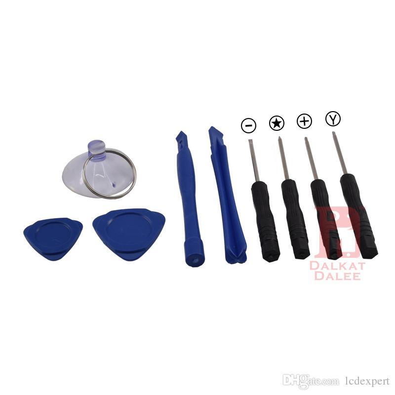 9 in 1 Strumenti di apertura leva di riparazione kit con cacciavite a Y Cacciavite Torx Pentalobe stella a 5 punte APPLE iPhone X 8 7 6S 6 Plus 5S