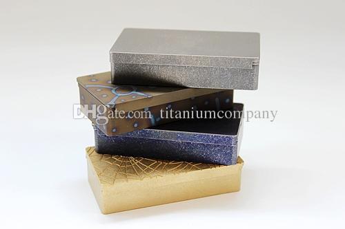 Titanio TC4 Rettangolo EDC Snull / Pill / Capusle Seal Box interno 60x29x13mm 46.4g CNC lavorato anti-corrosione impermeabile con stantuffo a sfera