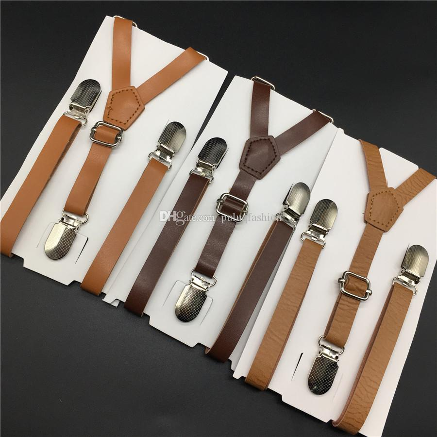 puluq Leather Suspender 6 Colors to Choose And Size For Children