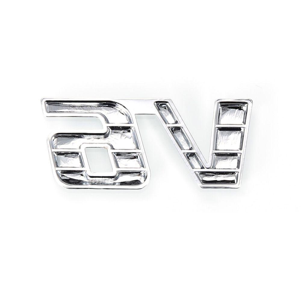 Decalque da etiqueta do motor do caminhão do crachá do emblema do deslocamento do cromo 3D do metal auto