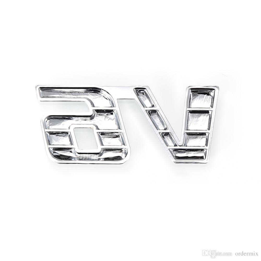 Etiqueta engomada auto del motor auto del camión de la insignia del emblema de la dislocación del cromo 3D V6