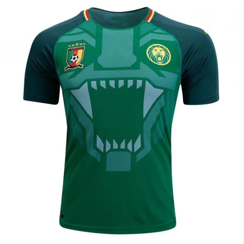 94d25f4170e 2018 World Cup Cameroon Soccer Jersey 10 ABOUBAKAR 9 ETO 8 MOUKANDJO ...