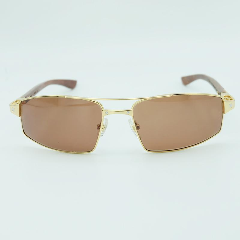 eaccca67f1f76 Compre Moda De Luxo De Madeira Óculos De Sol Quadrado De Metal Dos Homens  De Óculos De Sol De Condução Para Homens Marca Designer Óculos De Sol De  Qiuyeluo