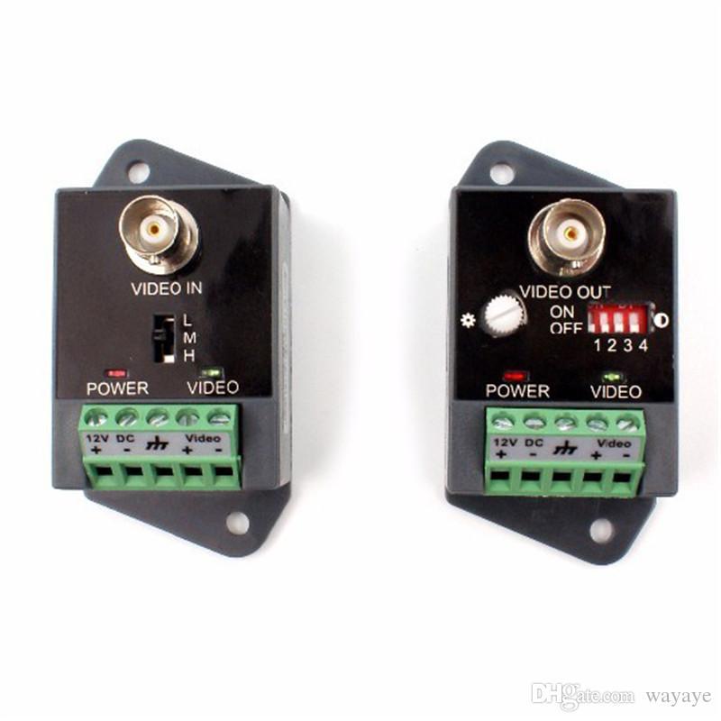 1-канальный видео балун приемник передатчик Активная мощность балун видео Поддержка 2400 метров CCTV HDTVI HDCVI AHD-HD Активный балун