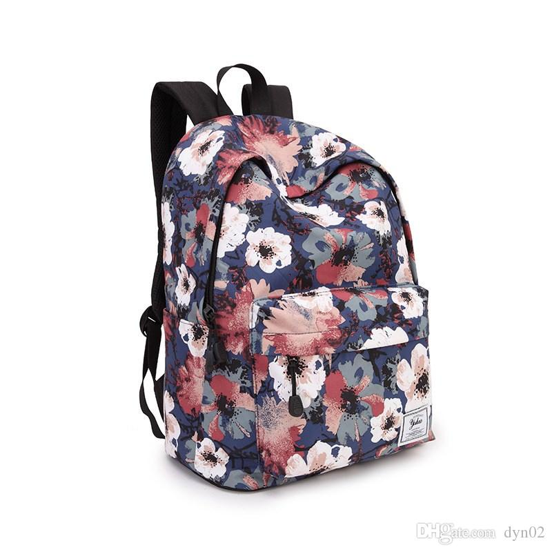 08ef19a2e291 2018 New Printed Canvas Shoulder Bag Style College Wind Reduction Student Bag  Casual Backpack School Backpack Shoulder Bags For Men From Dyn02