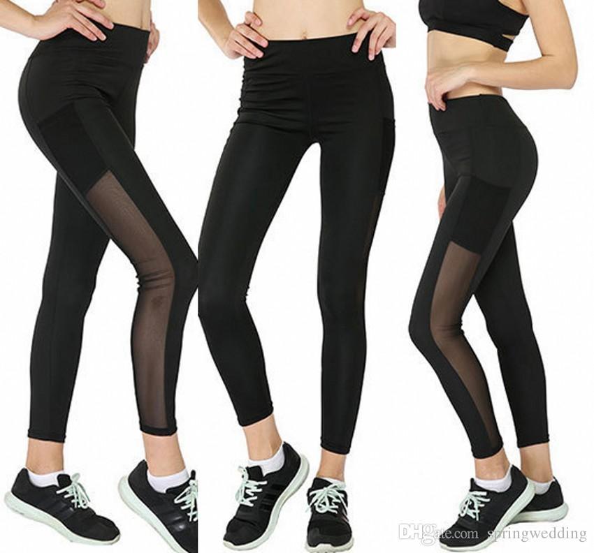 b40f0d6b193 Acheter Noir Pas Cher Sexy Push Up Noir Leggings Femmes Mode Taille Haute  Entraînement Polyester Yoga Fitness Leggings Active Usure Slim Legging  FS5763 De ...