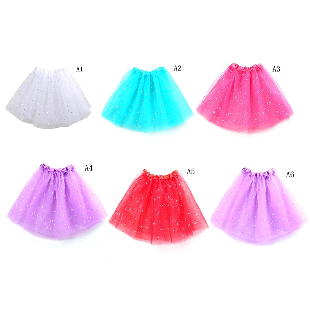 2019 Summer Kids Baby Star Glitter Dance Tutu Skirt For Girl Sequin Tulle  Toddler Lace Pettiskirt Children Chiffon From Fkansis b3fcde59fee2