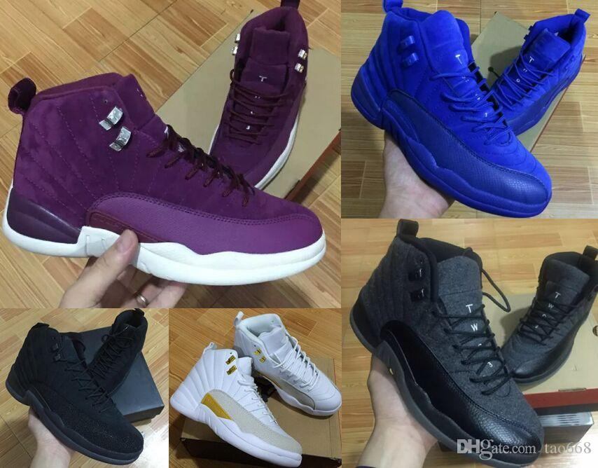 15040508d178 12s Classic 12 French Gamma Blue Basketball Shoes Taxi Ovo Black Nylon  Wings Flu Game 12s US8 13 Rising Sun Cherry Sneakers Women Men Shoes Sale  Sneakers ...