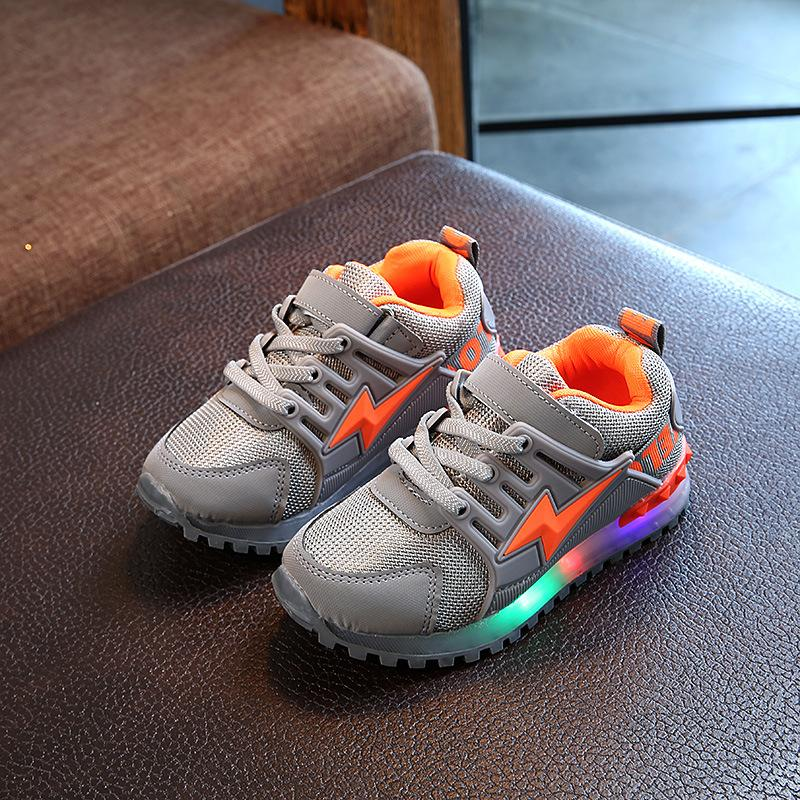 2018 Hookloop Fashion Led Lighted Baby Sneakers All Season Sports