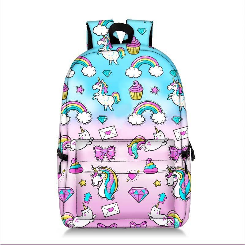 78b1335563d New Cartoon Animal Unicorn Panda Backpack For Teenage Girls Children School  Bags Kids Bookbag Cute Rainbow Horse School Backpack