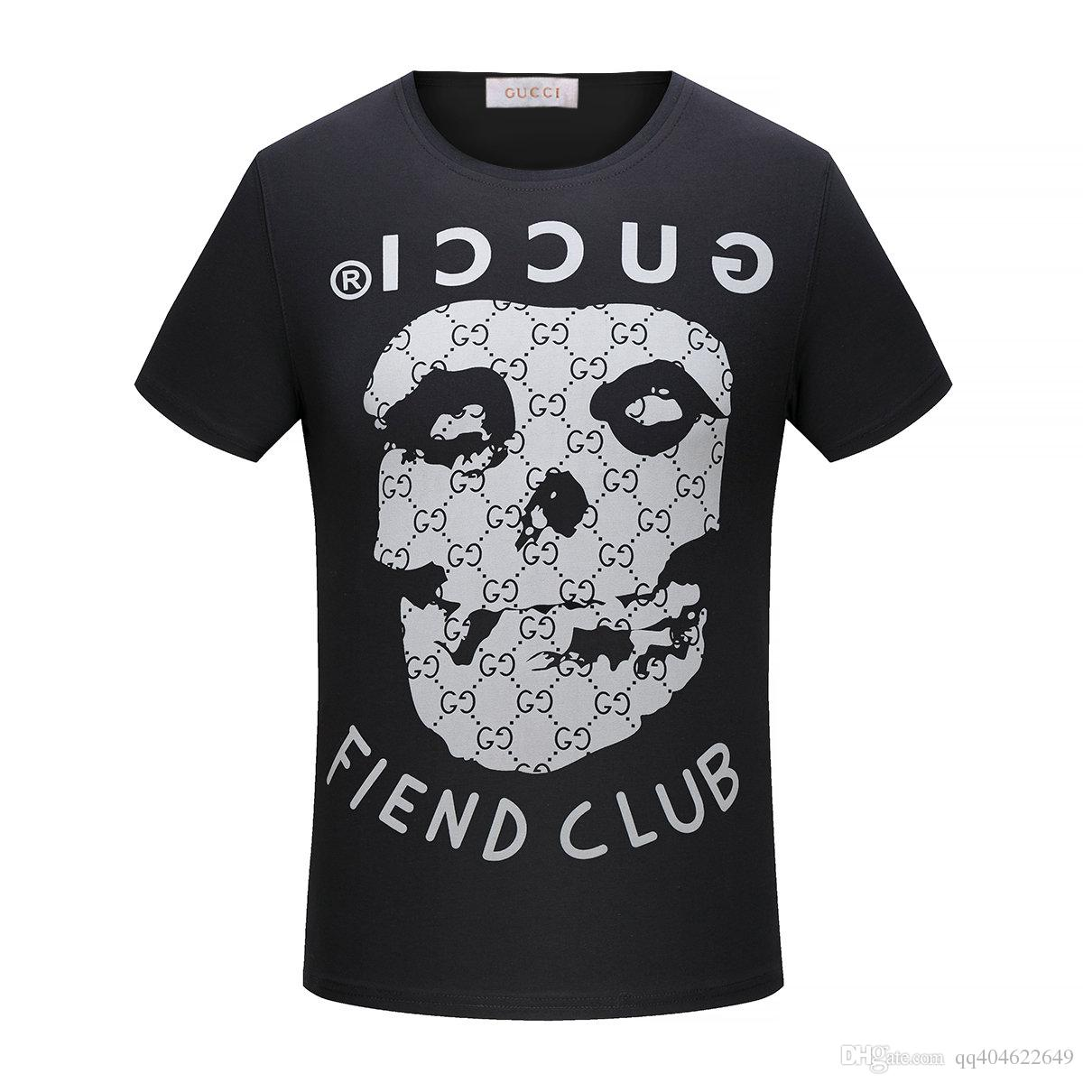 970441b8fb4 Halloween Top Quality Skull Plus Letter Printing Men T Shirts Short ...