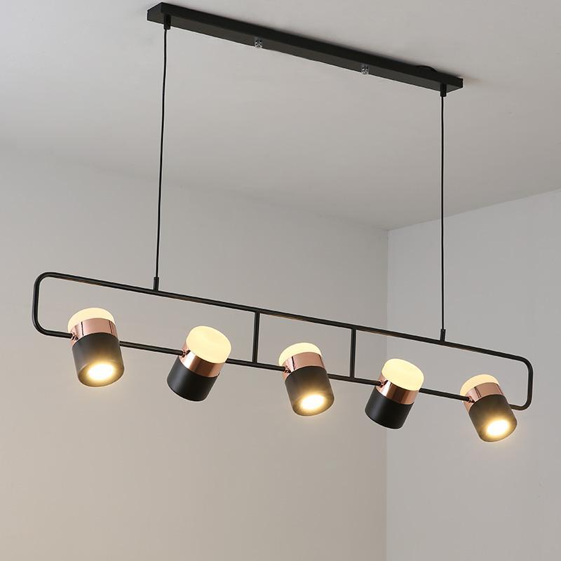 Progettista moderno semplice LED Bar Lampadario da tavolo Nordic Camera da  letto lampadario ristorante lampada girevole luce di metallo