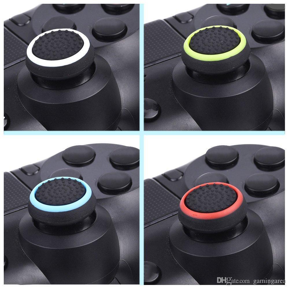 Dual color silicone joystick cap polegar aperto vara apertos caps case para ps4 ps3 xbox one 360 wii controlador dhl fedex ems frete grátis