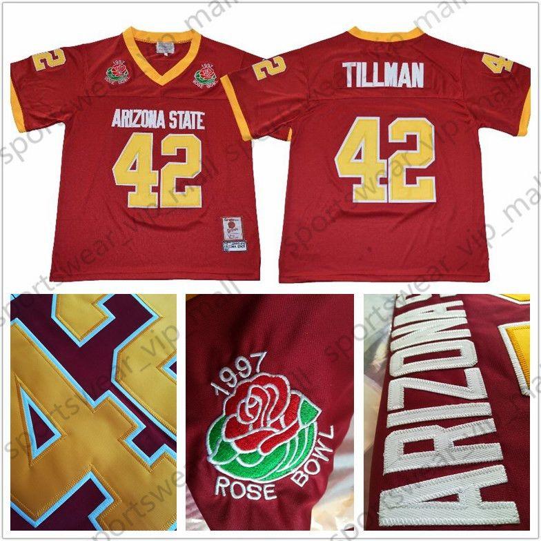 huge discount 3f430 ec188 NCAA Arizona State Sun Devils Jersey WOMEN MEN KIDS 42 Pat Tillman College  Football Jerseys