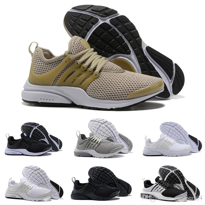 buy popular 37f73 00d99 Compre Nike Air Presto Ultra Low 2018 TOP PRESTO 5 BR QS Breathe Negro  Blanco Amarillo Rojo Zapatos Para Hombre Zapatillas De Deporte Mujeres  Zapatillas ...