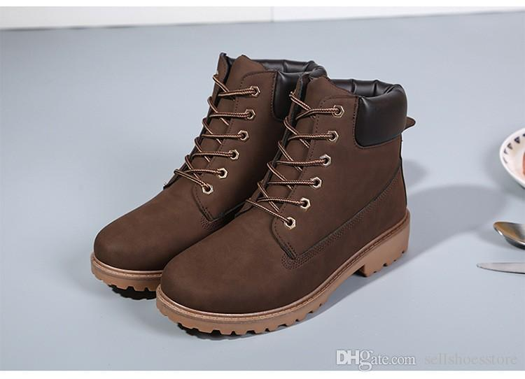 Designer Mens Timber New Fashion Martin Boots Outdoor Casual Boots Autumn  Winter Lover Shoes Botas Hombre Online Classic Timber Boots Cheap Work  Shoes Mens ... 7a7bfc491b