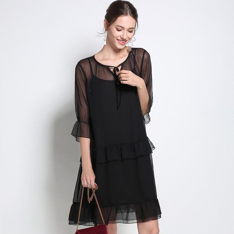 50e2d1770cd9 2018 Черное платье из кружева Элегантное платье для беременных Повседневная  ...