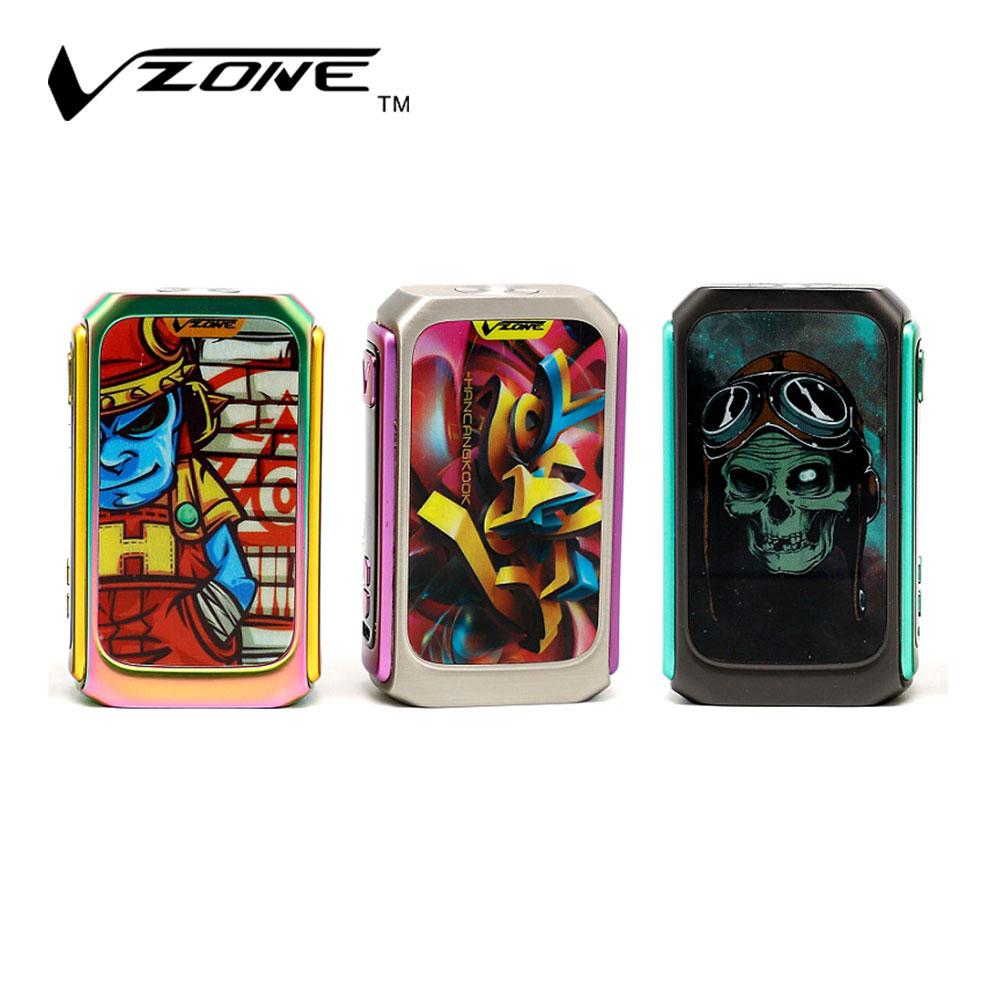 220w vzone graffiti tc box mod powered by dual 18650 batteries withadvanced hw board 1 0 chipset e cig no battery vaping mod reviews variable vape mod from