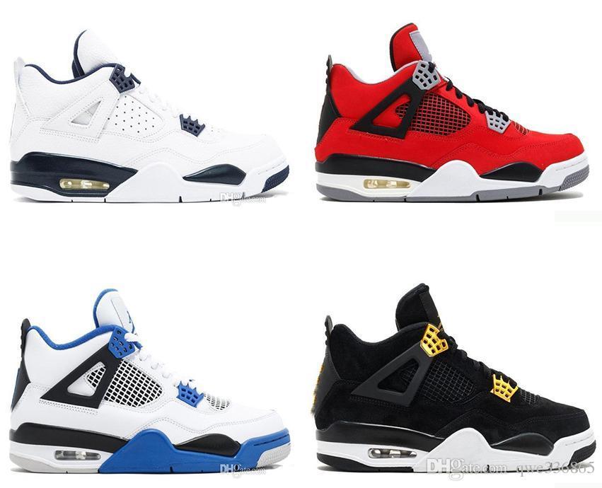 6e406b8f4eb5 Cheap Top 4 Men Basketball Shoes Sneakers Black Yellow White Cement ...