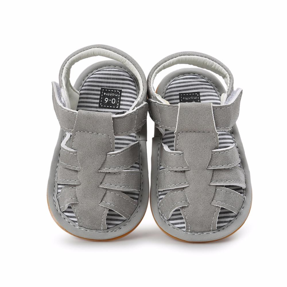 24d09a82ed618 Gray Color Summer Autumn Newborn Baby Boy Sandals Clogs Shoes Casual ...