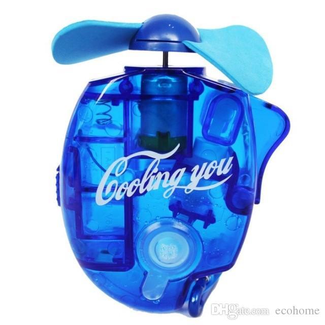 Water Spray Fan Mini Cooling Electric Fan Handheld Water Cooler Fan for Hot Summer Beach Travel Outdoor