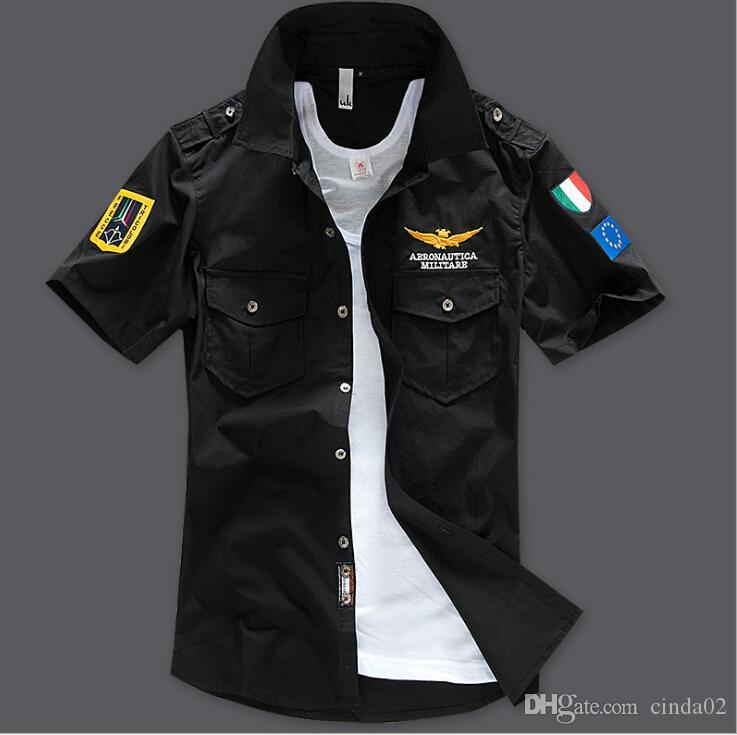 sale retailer dd74d bd9c5 Männer Kleidung Tops Stickerei Mode Shirts Coole Männer Casual Shirts  Kurzarm 5 Farben