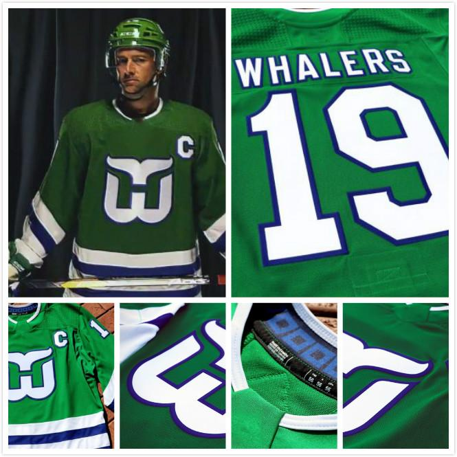 2019 2018 New Custom Hartford Whalers 19 Whalers Carolina Hurricanes  TurnBack Uniform Hockey Jersey Your Name Your Number Men Lady Kids UK 2019  From ... bb8d17457c8