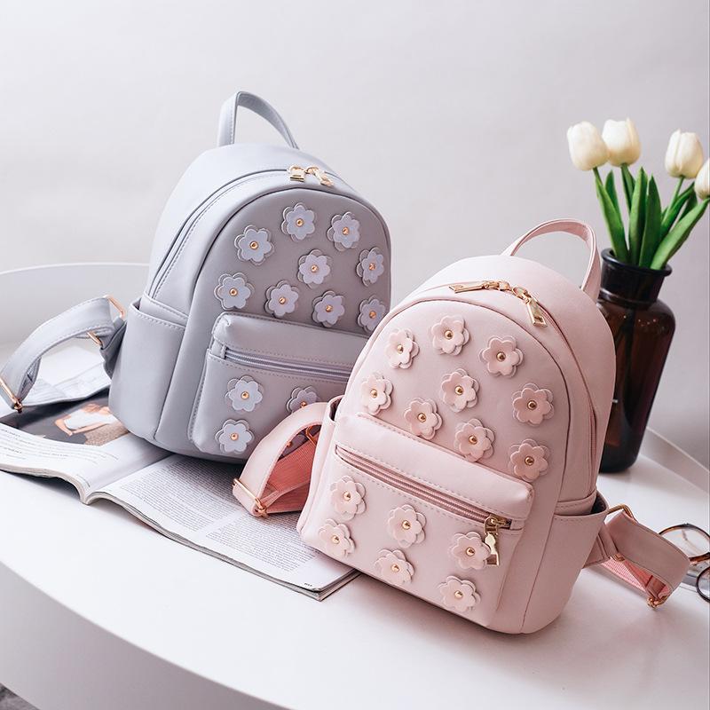 31c95a8184d0 Women Flower Mini Bag Printing Backpack Female Korean School Bags For Teenagers  Girls Small Backpack Mochila Escolar 568 Book Bags Herschel Backpacks From  ...