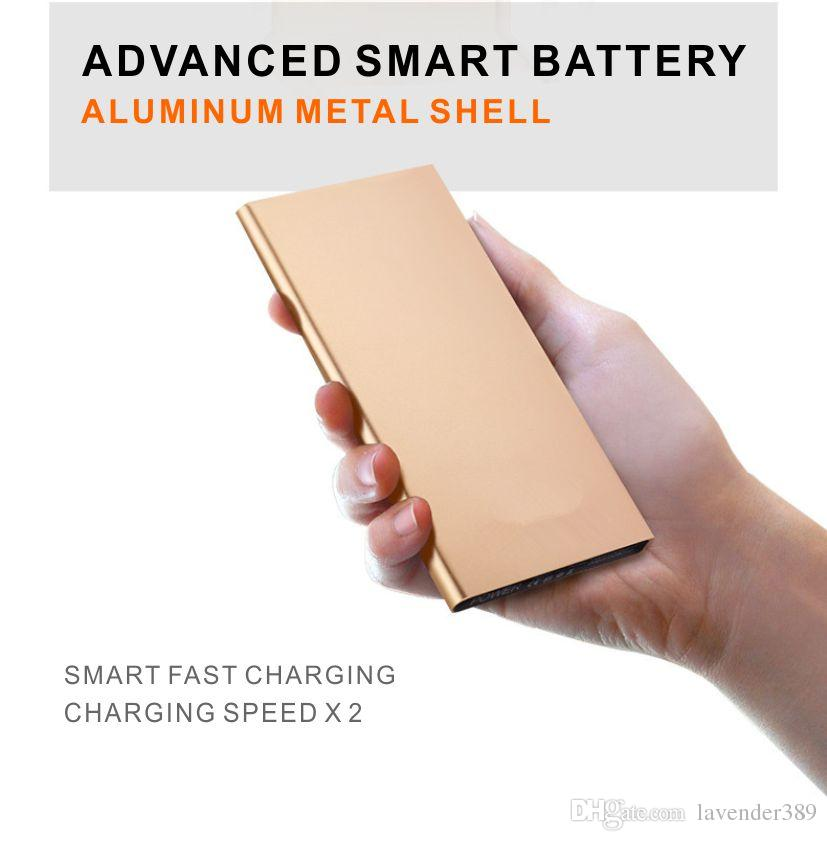 12000Mah Ultra Thin Slim fast charge Power Bank Portable External Battery Polymer Book for iPhone Android mobile phone Tablet PC LED LIGHT