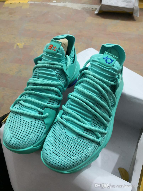 e51321989d8 New Air KD Men Basketball Shoes Top Quality KD 10 Oreo Be True ...