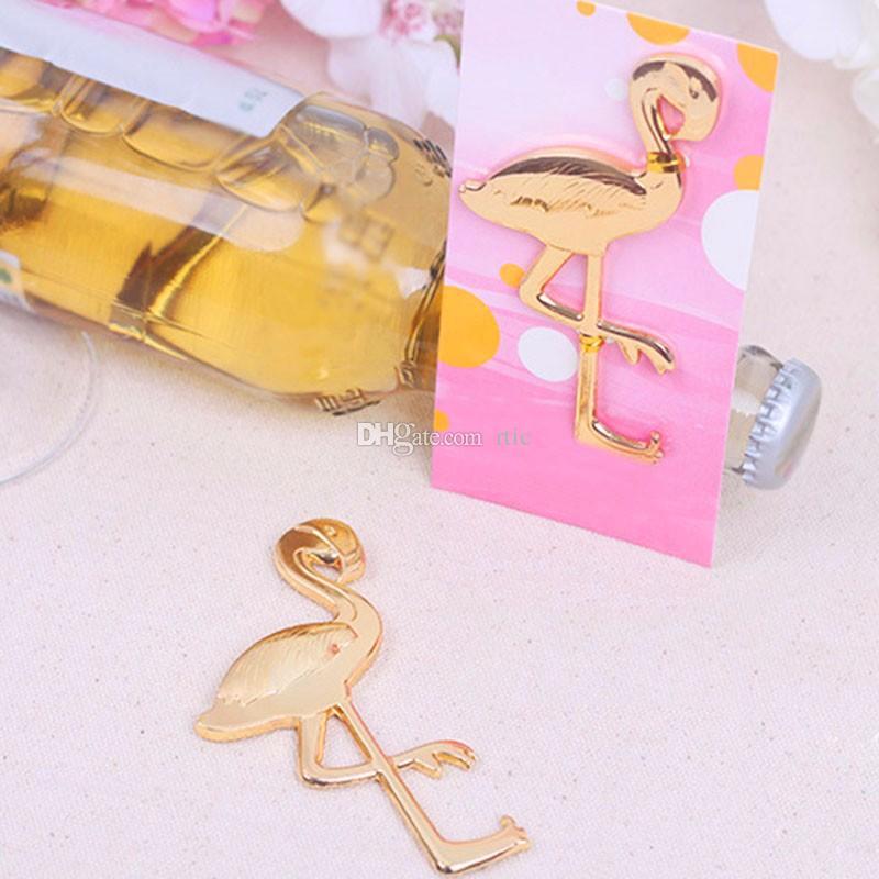 Beach Gold Metal Flamingo Beer Bottle Opener Fanny Shape Unique Beer Bottle Opener Anniversary Wedding Favor