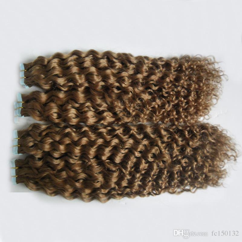 Band des Band-200g im Menschenhaar-Extensions-menschliches Band in verworrenem gelocktem doppeltem Brazillian Band in den Haar-Verlängerungen 100% Remy Menschenhaar