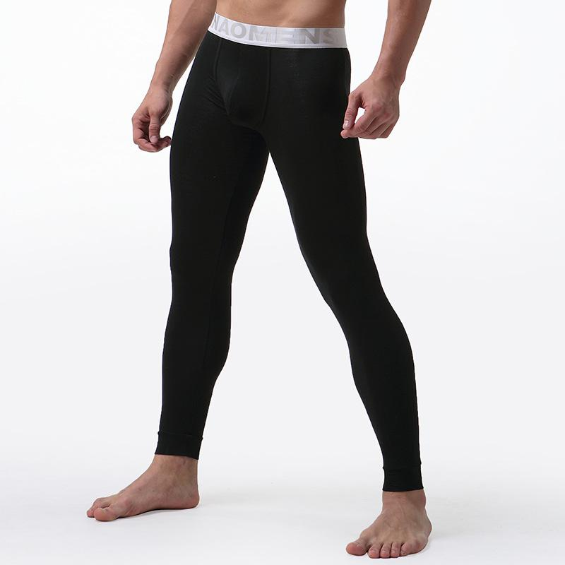 7da5f0e4c6d3bf Mens Long Johns Underwear Solid Color Male Leggings Hombre Sexy ...