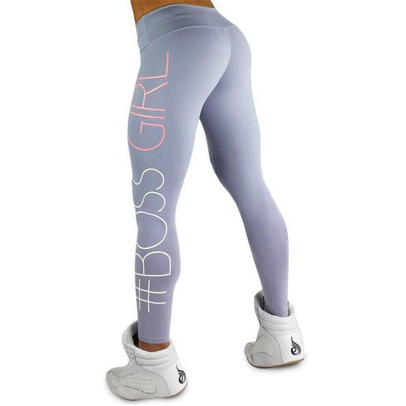 5866199647 2019 Women'S Boss Girl Printed High Waist Quick Dry Sport Fitness Leggings  Gym Clothing For Women Mallas Mujer Deportivas Yoga Pants From Alexandr, ...