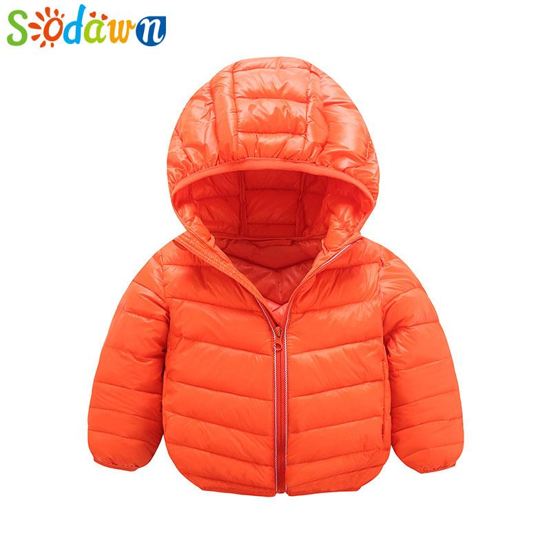 f42091bcdf5a Sodawn 2018 Winter New Children Cotton Clothing Wear Cotton Coat Big ...