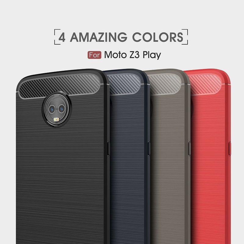 2018 New CellPhone Cases For Motorola Z3 Play Carbon Fiber heavy duty case for MOTO Z3 Play backcover DHL