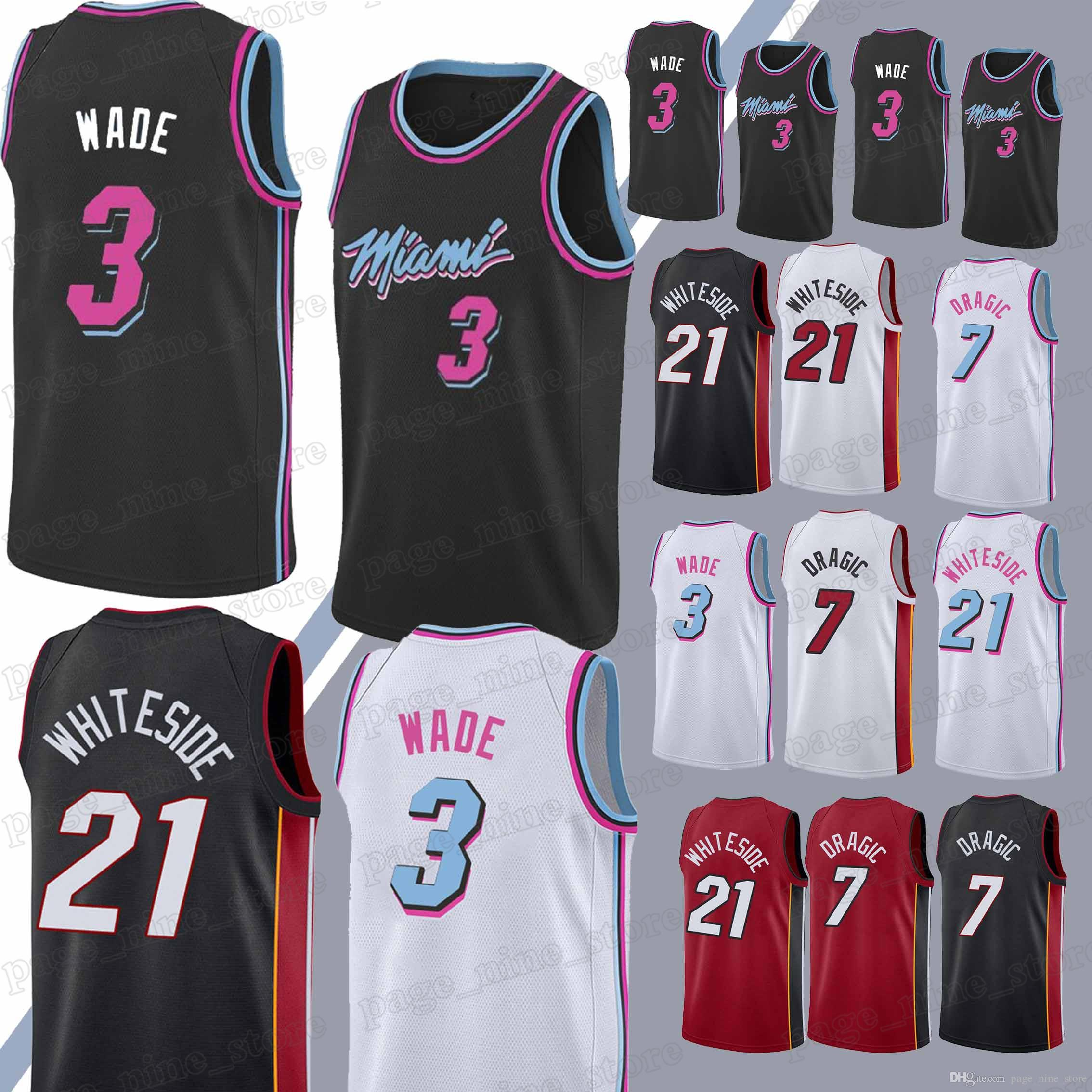 087a2bc8a2a ... best price miami heat jerseys 7 goran dragic 3 dwyane wade 21 hassan  whiteside hot sale ...