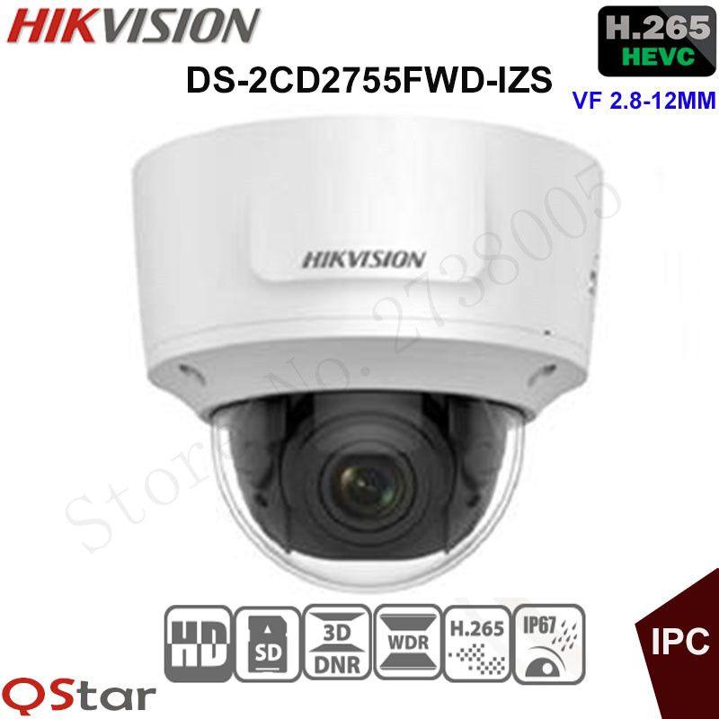 44adbda51 Compre Hikvision 5MP WDR Câmera De Segurança IP Varifocal H.265 DS  2CD2755FWD IZS Dome Câmera De CFTV 2.8 12mm Detecção De Rosto IP67 IK10 De  Starship13