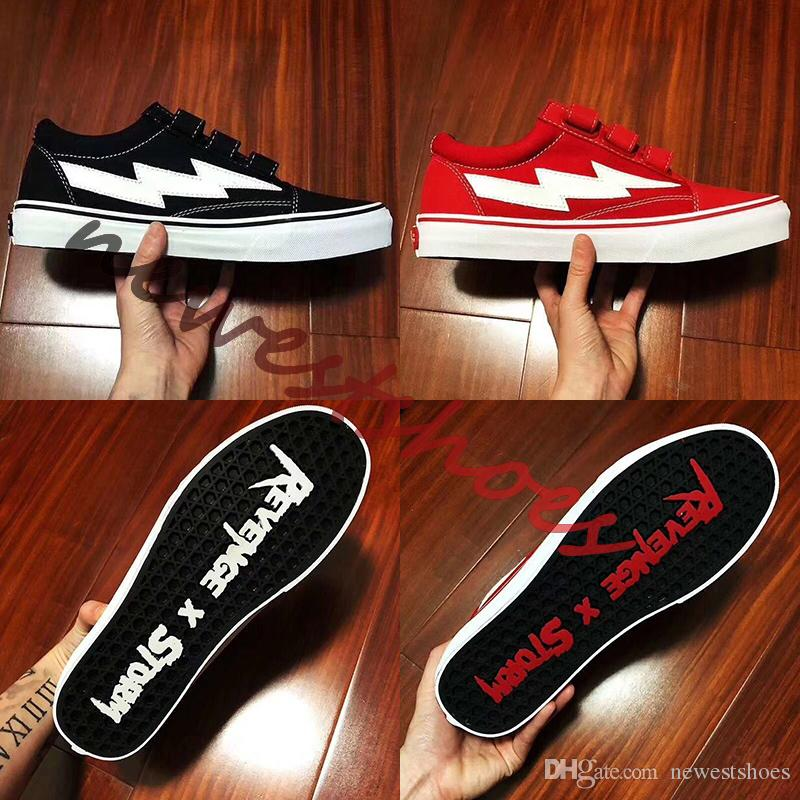 2019 New Revenge X Storm Era Hook Straps Ian Connor Black White Red Men  Women Skate Shoes Kendall Jenner Authentic Casual Sneakers Size 35 44 From  ... ba470f65a9
