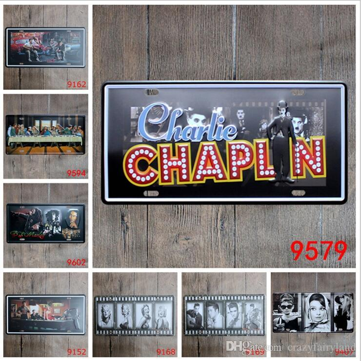 Vintage Metal Tin Signs For Wall Decor Beatles Michael Jackson Iron Paintings 15*30cm Metal Signs Tin Plate Pub Bar Garage Home Decoration