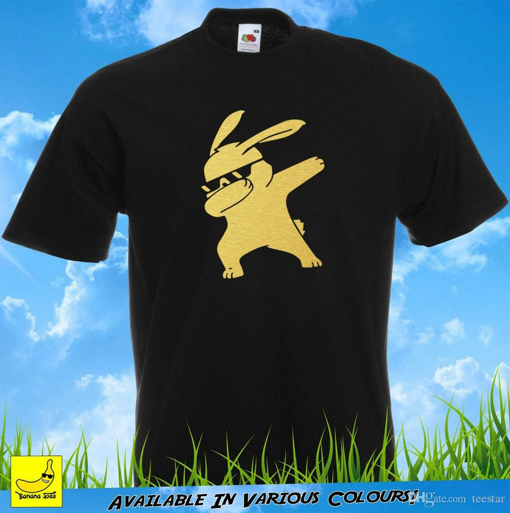 3c475376a9 Dabbing Bunny Novelty T Shirt Funny Hip Hop Dab Dance Christmas Gift YouTube  Tee 2018 Fashion 100% Cotton Slim Fit Top T Shirt With Online Shop T Shirt  From ...